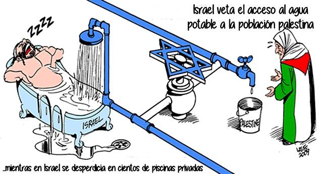 israel veta el agua a palestina